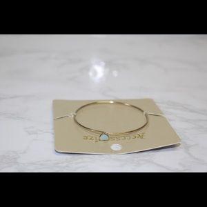 Opal heart bracelet